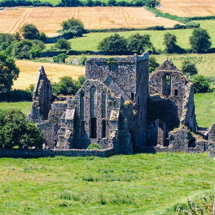 Burgruine neben Rock of Cashel Irland