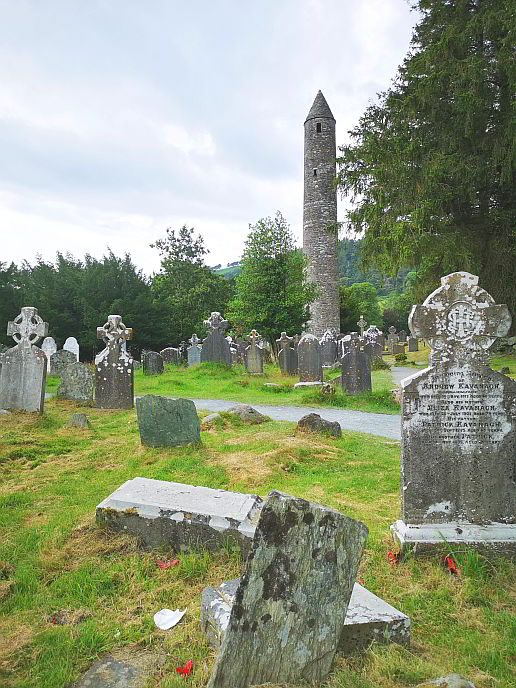Irland Glendalough Klostersiedlung