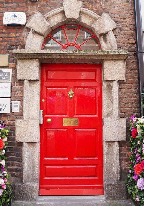Haustür in Dublin Irland