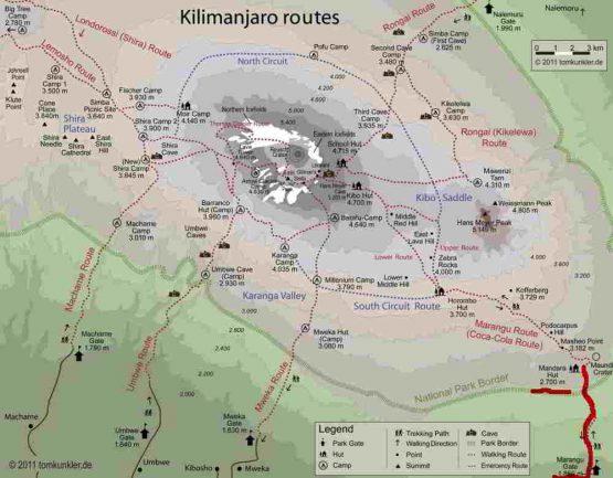 Kilimanjaro Routen