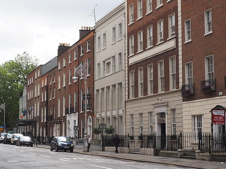 Straßenbild Dublins Irland