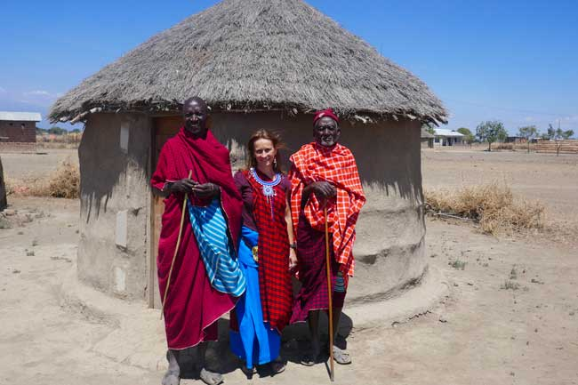 Gruppenfoto mit Maasaais
